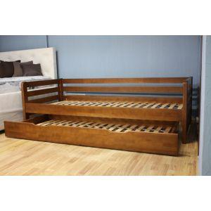 Кровать Немо с доп спальным местом 90*200 см (цвет яблоня, дерево бук) (РАСПРОДАЖА)