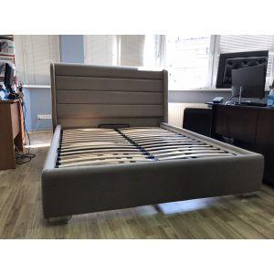 Кровать Римо с ПМ 160*200 велюр Donna 19 (Silk) (РАСПРОДАЖА С ВЫСТАВКИ)