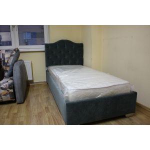 Кровать Варна с подъемным механизмом 90*200 ткань Jaguar Sage (РАСПРОДАЖА с выставки)